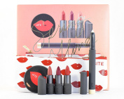 Bite Beauty Spring Fling Makeup Set 5 Piece Gift Set - 3 Mini Lipstick, Lip Pencil, Mirror & Bag