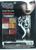 Fantasy Makers Crawl the Line Devilish Queen Halloween Stencil Glitter Kit