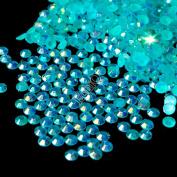 1lot=1000pcs 3mm AB Nail Art Rhinestones Flatback Sky Blue Jelly Crystals AB 14 Facets Resin Round Rhinestone Beads J05