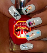 Christmas Disney Frozen Nail Art Decals. Clear Waterslide Nail Decals (Tattoo) Set of 47 by One Stop Nails DFR-002-47