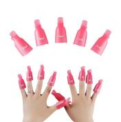 10 PCS Acrylic Nail Art Soak Off Clip Cap UV Gel Polish Remover Beauty Tool