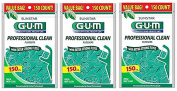 SunStar GUM Professional Clean Flossers 150 Ct