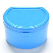 1 Pcs Blue Health Dental Orthodontic Retainer Box Mouthguard Denture Storage Case by Team-Management