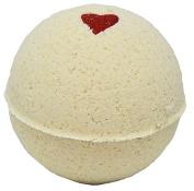 Bath Bomb 160ml Hearts on Fire Cinnamon w Kaolin Clay & Coconut Oil