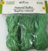 Natural Raffia 3 Bundle Pack Green