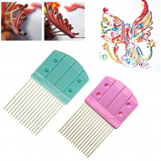 2PCS,15pins Paper Quilling Comb Tool DIY Paper Craft Tool Creat Loops Accessory Supply