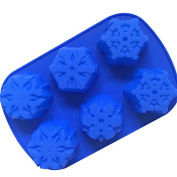 USmyth Food-grade 6 Varieties Snowflake Form Fondant Cakes Mould Bath Bomb Fizzies for Christmas Holiday Atmosphere