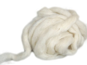 Happy Classy 0.5kg Off White/ Light Grey Domestic Scoured Carded Sliver 32 Micron 7.6cm - 13cm Staple Length Fibre Roving