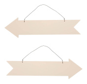 Darice Unfinished Wood Arrow Plaque Sign - Set of 2