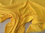 BRIGHT YELLOW Coloured Luxury Cotton Towelling Fabric -Thick and Heavy - 100% cotton