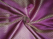 BROCADE PURPLE BLACK X METALLIC GOLD colour 110cm INCH