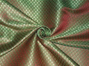 BROCADE RUST GREEN X METALLIC GOLD colour 110cm INCH