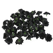 PIXNOR 50pcs Silk Rose Flower Heads Embellishment Decoration