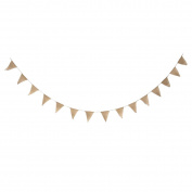 Vintage Wedding Party Burlap Bunting Banner 15 Flags