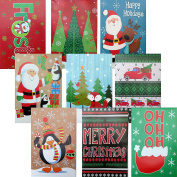 Christmas Gift Boxes, Shirt Size, Pack of 9