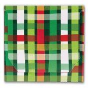 Holiday Plaid Pop-Up Folders, 5 x 8.6cm x 0.3cm