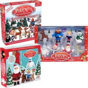 (Set) Rudolph The Reindeer Crochet Kit Christmas Journey Game and Figure Set