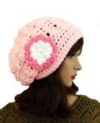 Womens Beanie Crochet Handmade Women's Pink Hat