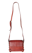 Diophy Genuine Leather Distressed Structured Cross Body Bag D10022