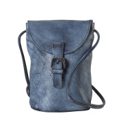 Diophy Genuine Leather Snap Closure Structured Cross Body Bag 160503