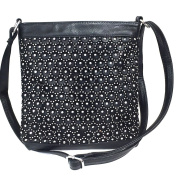 Zzfab Circle Rhinestone Sparkle Bling Cross Body Bag