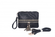 Zzfab 2 Tone Colour Wristlet Cross Body handbag with Tassel