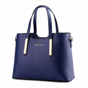 Myleas New PU Leather Women's Shoulder Bags Top-Handle Handbag Tote Purse Bag