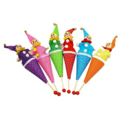 5 Pcs Clown Puppet Toy Baby Educational Pop Up Telescopic Doll Styles Random by Sdetter