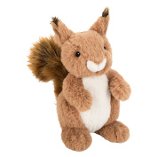 John Lewis Buster the Boxer Sid the Squirrel Plush Soft Toy, Brown, H22cm