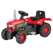 Dolu Children's Kid's Pedal Operated Ride On Red Tractor Toy Outdoor Garden Ride Ons Age  .