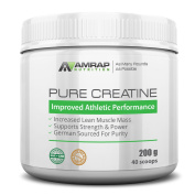 AMRAP Nutrition – Pure Creatine – Formulated to Give You Energy When You Need It Most – Builds Lean Muscle Mass & Aids in Muscle Recovery – Pre-workout Supplement for Men & Women