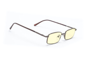 StrainCutters Anti-Reflective Blue Light Blocking Computer Reading Glasses (Brown