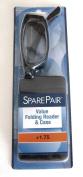 Spare Pair Folding Eyeglasses Reading Glasses & Case Tortoise Foster Grant +1.75