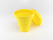 Dandelion Cup Menstrual Cup Sanitising Container for Soaking and Cleaning Menstrual Cup - Yellow