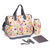 U Like Polka Dot Baby Nappy Tote Bag Set Baby Stroller Bags Shoulder Mummy Bag