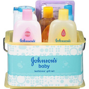 Johnson & Johnson Bathtime Essentials Gift Set for New Parents Baby Arrival Pack