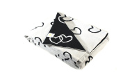 Hearty Heart - Black and white - Reversible cotton Baby Blanket by Pink Lemonade