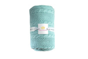 Cable Mix - Light Blue - Baby Blanket by Pink Lemonade - 100% Cotton