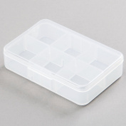 1pc 6 Slots Plastic Pill Tablet Storage Case Jewellery Sewing Craft Home Organiser Box