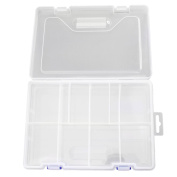 1pc Double Layer Storage 8 Slots Box Jewellery Home Craft Organiser Container Case