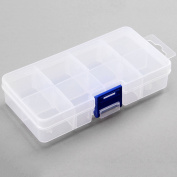 1pc Adjustable 8 Slots Storage Plastic Container Jewellery Beads House Craft Box Case