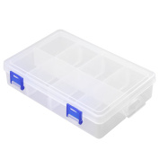 1pc 8 Slots 2 Buckle Plastic Home Storage Container Holder Keeper Organiser Box Case