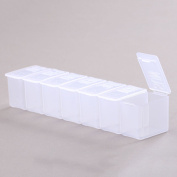 1pc 7 Days Weekly Clear Pills Dispenser Holder Organiser Boxes Medicine Tablet Case