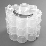 1pc Plastic 3 Layers Plum Shaped Storage Case Box Holder Container Organiser Keeper