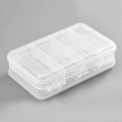 1pc 10 Slots Travel Clear Organiser Container Plastic Jewellery Beads Craft Box Case