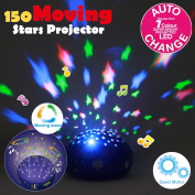 """""""Moving Twinkle Stars"""" Le Petit Prince Round Projector Night Light with Lullaby by Lumitusi"""