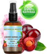 CHERRY KERNEL OIL. 100% Pure / Natural /Refined / Undiluted Cold Pressed Carrier Oil for Face, Body, Feet, Hair, Massage and Nail Care. 1 Fl. oz- 30 ml.