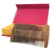 Natural Green Sandalwood Handmade Comb / Static-Free Wood Pocket Beard Combs Beard & Hair Care / Fine & Coarse Tooth