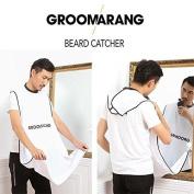 Groomarang Beard Catcher- Less Mess, Better Beard, Hair Clippings & Beard Catcher Grooming Cape