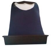 Shave Buddy. Beard & Moustache Cut Hair Catcher. Navy Blue & Black With White Lining.